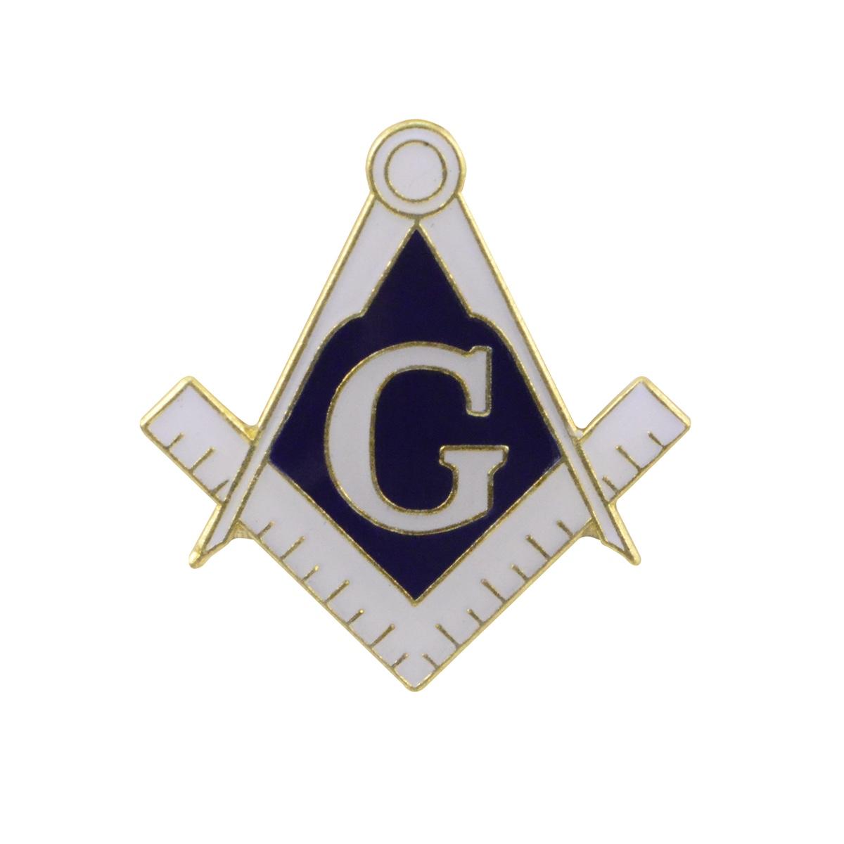 Blue Lodge Masonic G Square And Compass Collarlapel Pin Mason